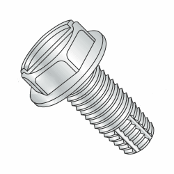 "3/8-16 x 3/4"" Type F Thread Cutting Screws / Hex Washer / Slotted / Steel / Zinc Plating (Quantity: 800 pcs)"