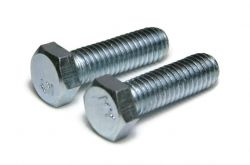 7/16-20 x 1 1/2 Hex Cap Screws, Grade 2 Zinc Plated Steel (Quantity: 50)