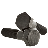 M5-0.8 x 40mm Hex Cap Screws, Metric Class 8.8 Plain Plated Steel (Quantity: 200)