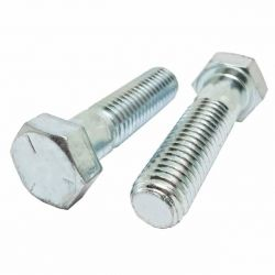 7/8-9 x 5 1/2 Hex Cap Screws, Grade 5 Zinc Plated Steel (Quantity: 35)