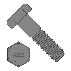 "1 1/2""-6 x 3"" A325 Structural Bolt Type 1 Heavy Hex Plain Finish (Quantity: 25 pcs)"