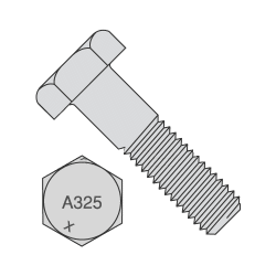 "7/8""-9 x 4 1/2"" A325 Structural Bolt Type 1 Heavy Hex Hot Dip Galvanized  (Quantity: 200 pcs) Partially Threaded"