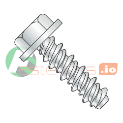"1/4"" x 2"" High Low Style Thread Forming Screws / Unslotted / Hex Washer Head / Steel / Zinc (Quantity: 1,000 pcs)"