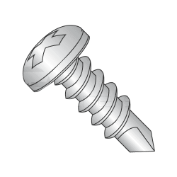 "#6 x 1"" Self-Drilling Screws / Phillips / Pan Head / 410 Series Stainless Steel / #2 Point (Quantity: 6000 pcs)"