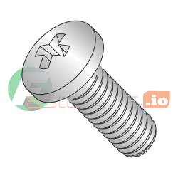 M1.6-0.35 x 12 mm Machine Screws / Phillips / Pan Head / 18-8 Stainless Steel / DIN7985A (Quantity: 6,000 pcs)