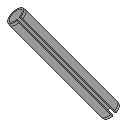 M2 x 28mm Roll (Spring) Pins / Steel / Plain (Thermal Black) / ISO 8752 (Quantity: 10,000 pcs)