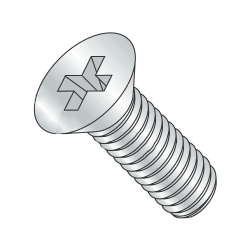 M2-0.40 x 8mm Machine Screws / Phillips / Flat Head / Steel / Zinc Plating (Quantity: 1000 pcs)