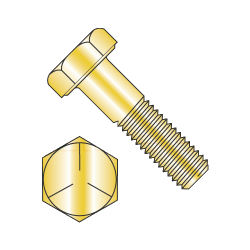 "MS90726-178 / 5/8-18 x 6"" Mil-Spec Hex Cap Screws / Grade 5 / Cadmium Yellow / DFAR Compliant (Quantity: 65 pcs)"