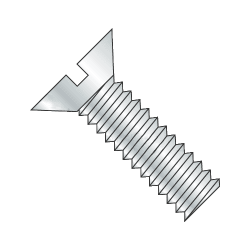 "2-56 x 3/4"" Machine Screws / Slotted / Flat Head / Steel / Zinc Plating (Quantity: 100 pcs)"