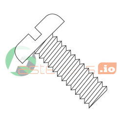 "4-36 x 1/2"" Machine Screws / Slotted / Pan Head / Nylon / Natural (White) (Quantity: 2,500 pcs)"