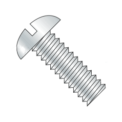 "2-56 x 1/2"" Machine Screws / Slotted / Round Head / Steel / Zinc Plating (Quantity: 100 pcs)"