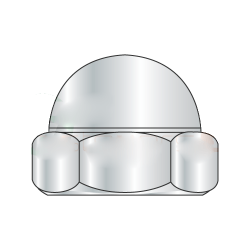 M8-1.25 Closed End Acorn Nuts / Low Crown / Steel Metric Class 6 / Zinc Plated (Quantity: 1000)