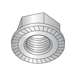 3/8-16 Serrated Hex Flange Locknuts / 18-8 Stainless Steel (Quantity: 100)