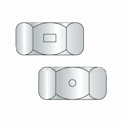 "1/4""-20 Two Way Reverisble Hex Locknuts / Steel / Zinc (Quantity: 100)"