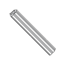 "#10 - #12 x 1"" Fluted Plastic Anchors / Nylon / For Use With #10 - #12 Screws / Length: 1"" / Drill Size: 1/4"" (Quantity: 1,000 pcs)"
