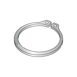 ".594"" External Style Retaining Rings / Stainless Steel (Quantity: 100 pcs)"
