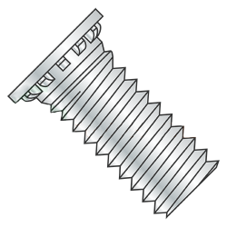"10-24 x 1 1/4"" Self Clinching Studs / Steel / Zinc (Quantity: 6,000 pcs)"
