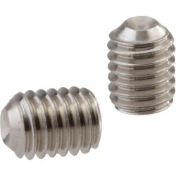 Socket Set Screw, Cup Point, DIN 916, M2-0.4 x 8mm, Stainless Steel A2-70, Hex Socket (Quantity: 1000)