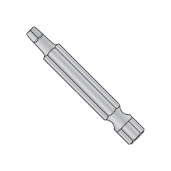 "1 X 3 X 1/4 Square Recess Power Bit / Point Size: #1 / Length 3"" / Shank: 1/4"" (Quantity: 100 pcs)"
