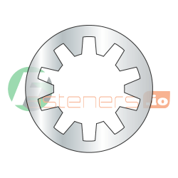 """#5 Internal Tooth Lock Washers / Steel / Zinc / Outer Diameter: .255"""" - .280"""" / Thickness Range : .014"""" - .020"""" (Quantity: 10,000 pcs)"""