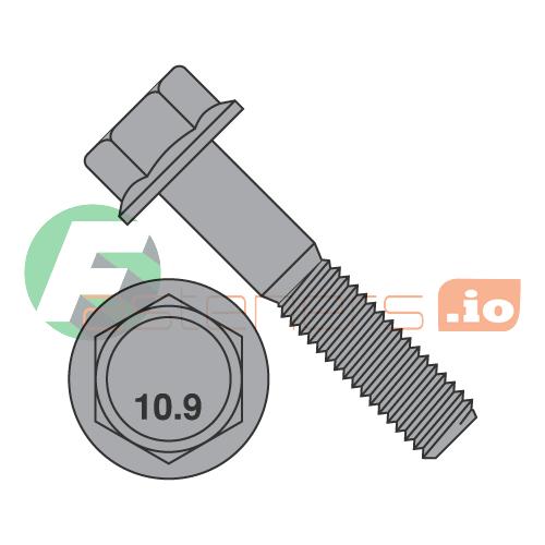 Flange Bolt M10 10mm x 40mm SERRATED Screw Zinc Plated High Tensile 8.8 5pc