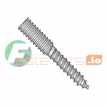 "5/16-18 x 2 1/2"" Full Thread Hanger Bolts / 18-8 Stainless Steel (Quantity: 100 pcs)"